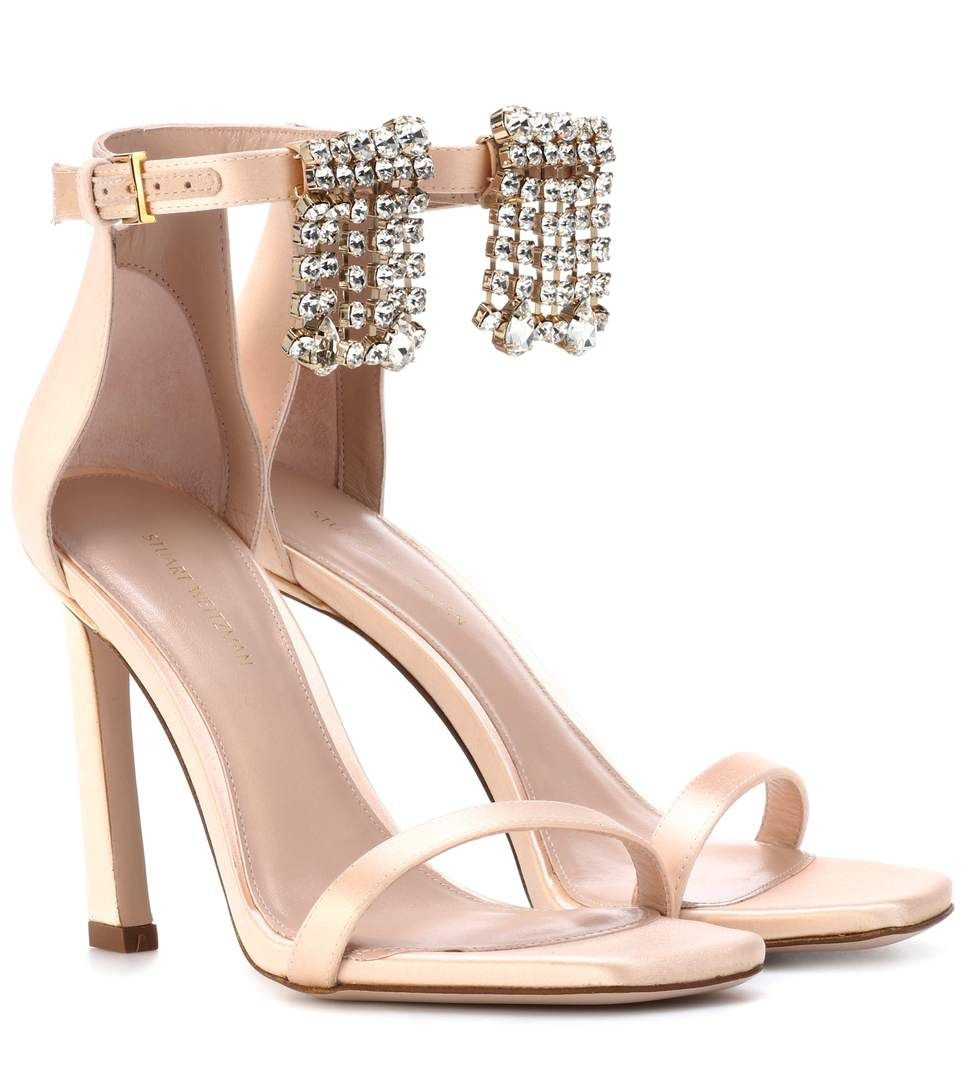 Stuart Weitzman satin sandals sale low cost cheap wholesale price cheap Inexpensive jc5MlszjtV