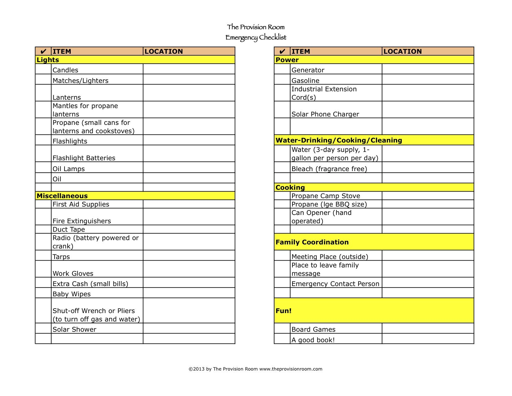 Emergency Preparedness Checklist  A Reader Challenge Via The