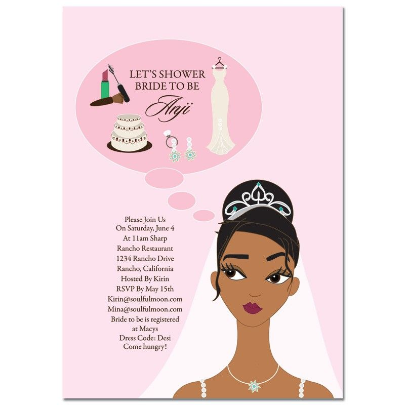 Unique African American Bridal Shower Invitations From #Soulfulmoon  Bridal  Shower Planning