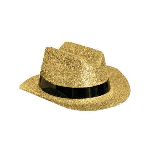 6d490097375f1 Silver Glitter Mini Cowboy Hat - Party City