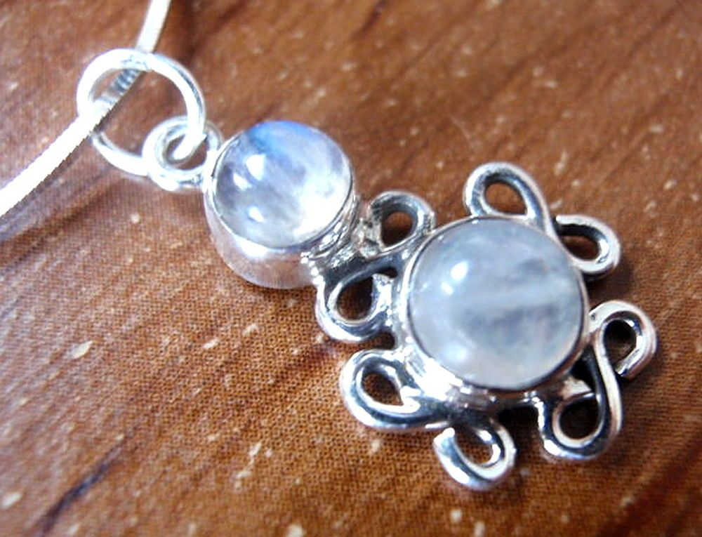 Moonstone Infinity 925 Sterling Silver Pendant Signifies Infinite Love