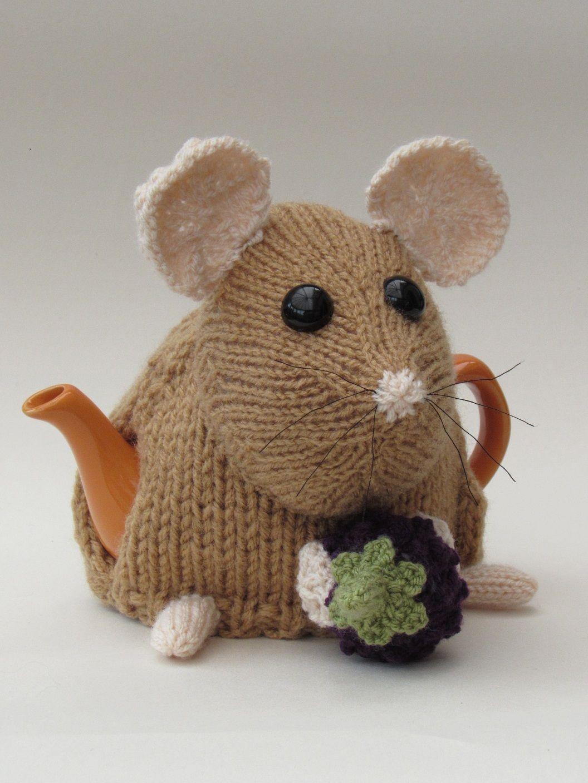 Dormouse tea cosy knitting pattern | Teteras y Adornos