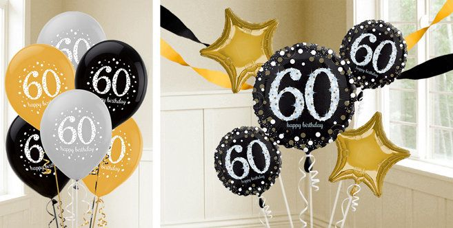 60th Birthday Balloons