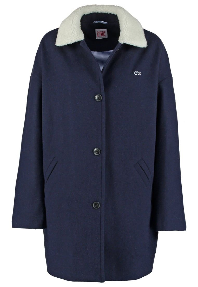 lacoste live coat marine