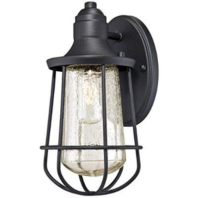 Westinghouse 6202900 Elias 1 Light Industrial Outdoor Wall Lantern, Textured Black