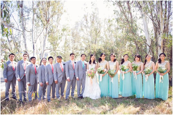 Love The Mint Skirts For This Disney Inspired Wedding