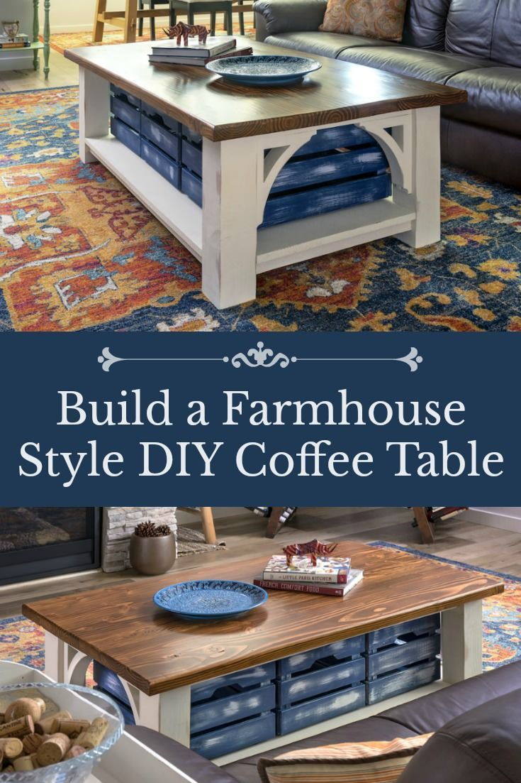Farmhouse Style Diy Coffee Table With Storage Diy Projects Diy