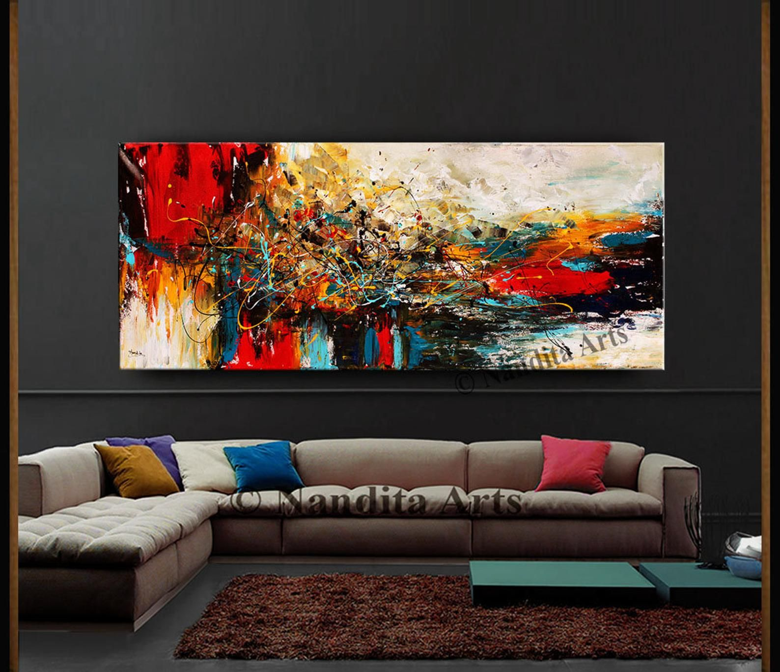 Oil Painting Acrylic Abstract Modern Art Red Original Painting Etsy In 2020 Modern Art Abstract Original Abstract Art Painting Modern Art Purple