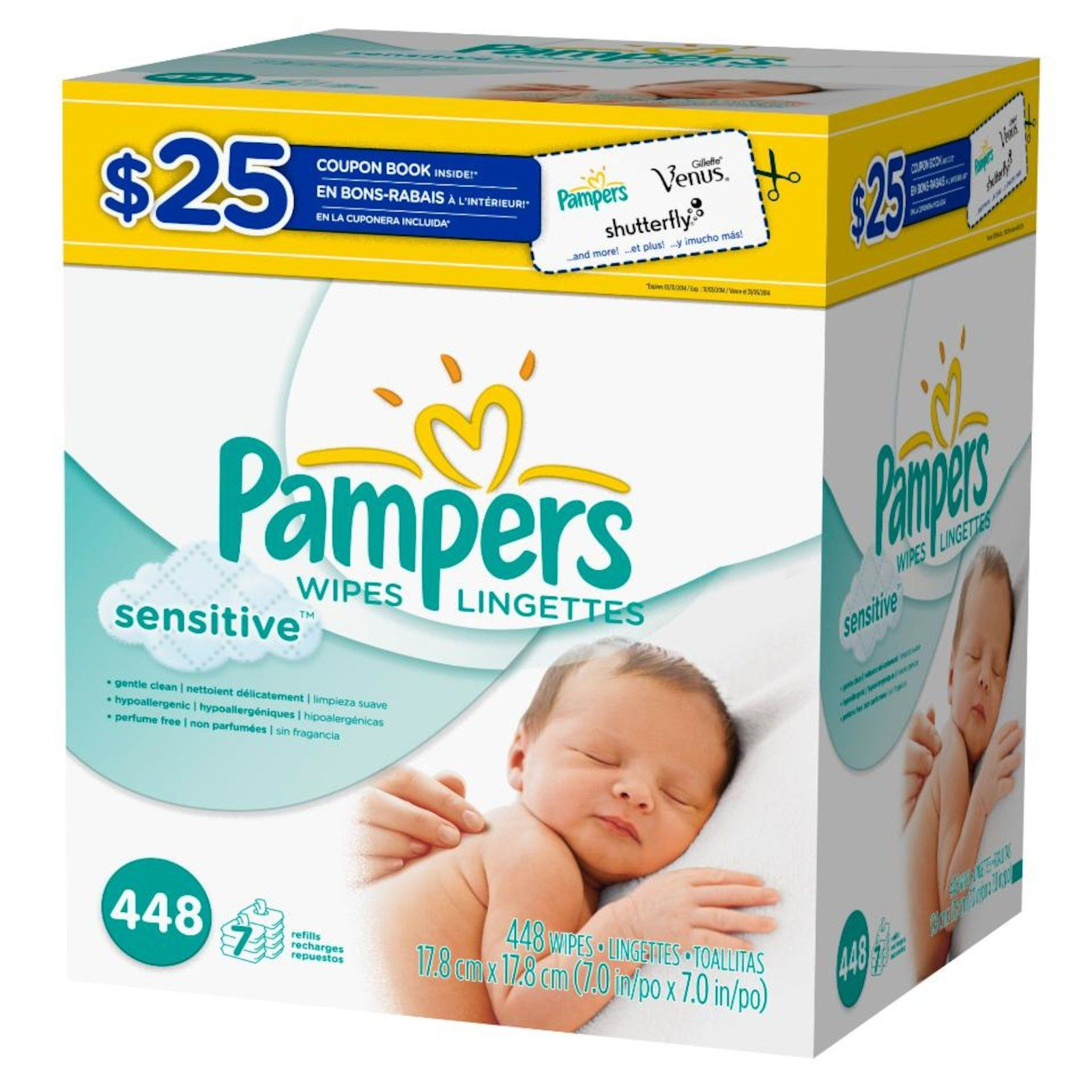 Clinically Proven Mild Pampers Sensitive Wipes Help