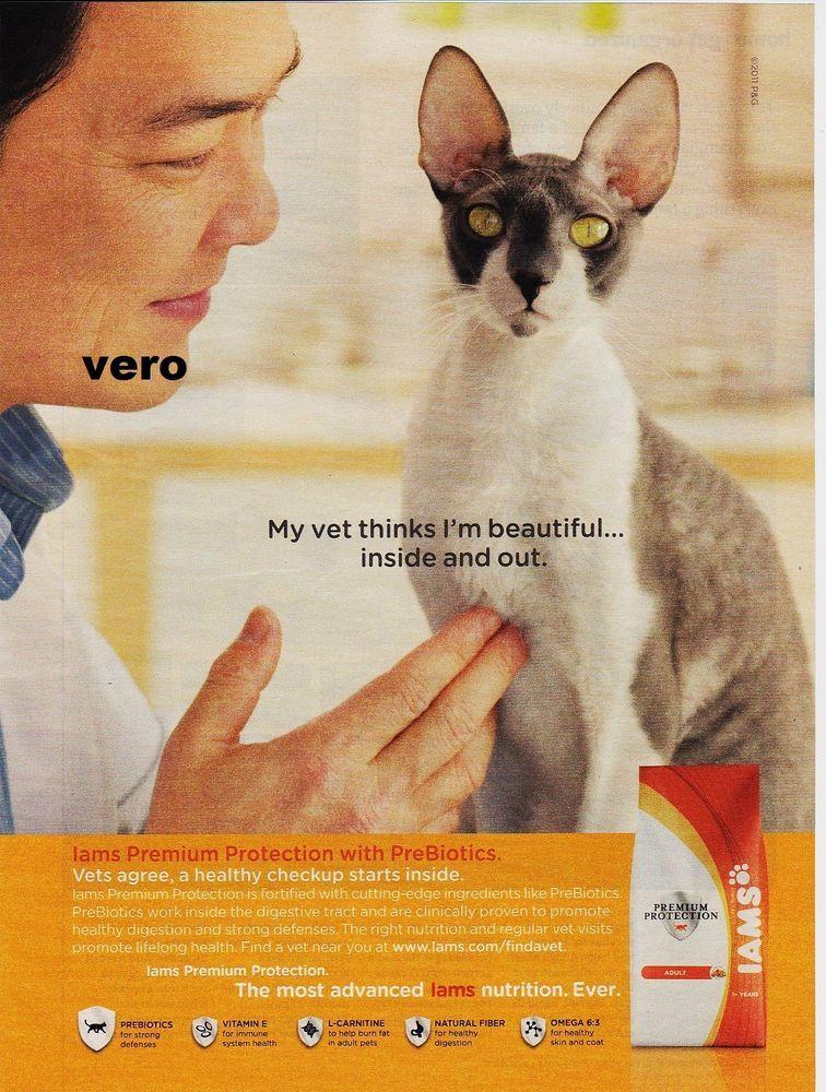 2011 iams cat magazine ad food advertisement print cornish