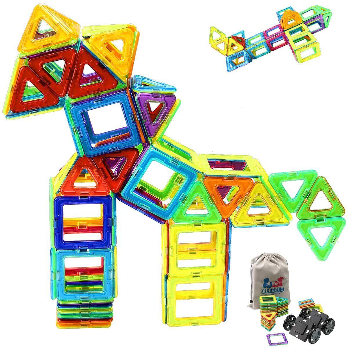 Magnetic Blocks Tiles Building Set For Kids Magnet Creativity Educational