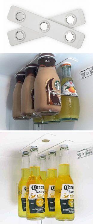 Imanes para colocar botellas en la nevera