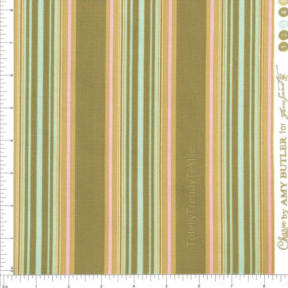 "AMY BUTLER /""BELLE/"" OXFORD STRIPE Okra by yard"