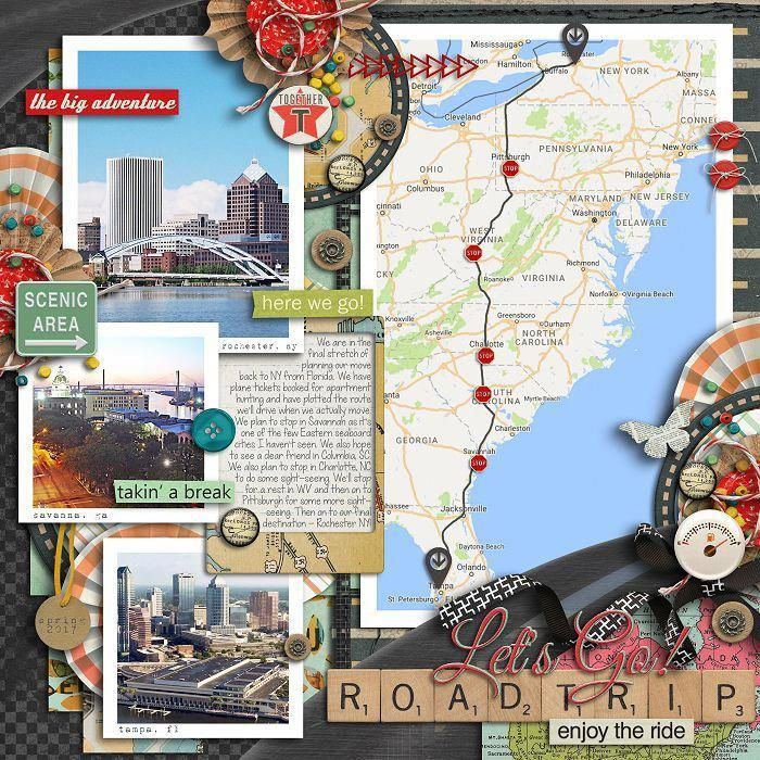 Great Road Trip Ideas: Great Road Trip Scrapbook Page Layout #ad