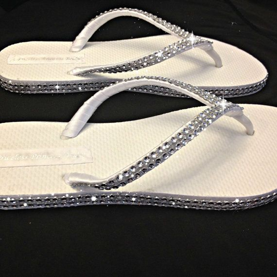 0eaf2c6ba Bridal Rhinestone Flip Flops Bridesmaids by APricelessPrincess ...