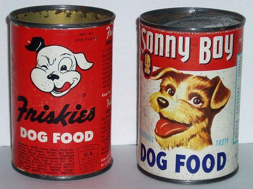 Dog Food Cans Dog Food Recipes Cat Nutrition Vintage Dog