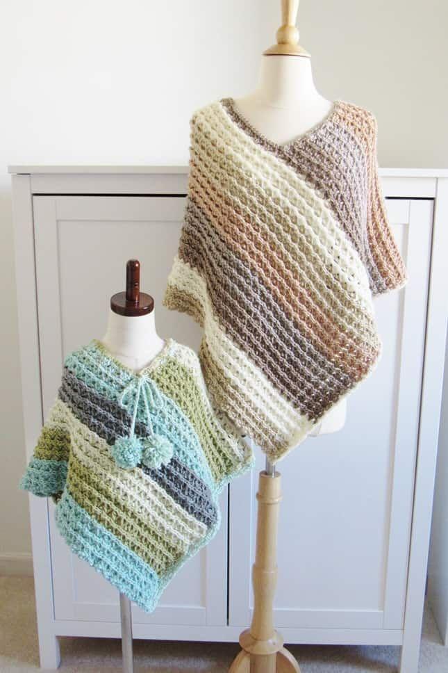 Free Child Crochet Poncho Pattern, Sea Breeze Poncho