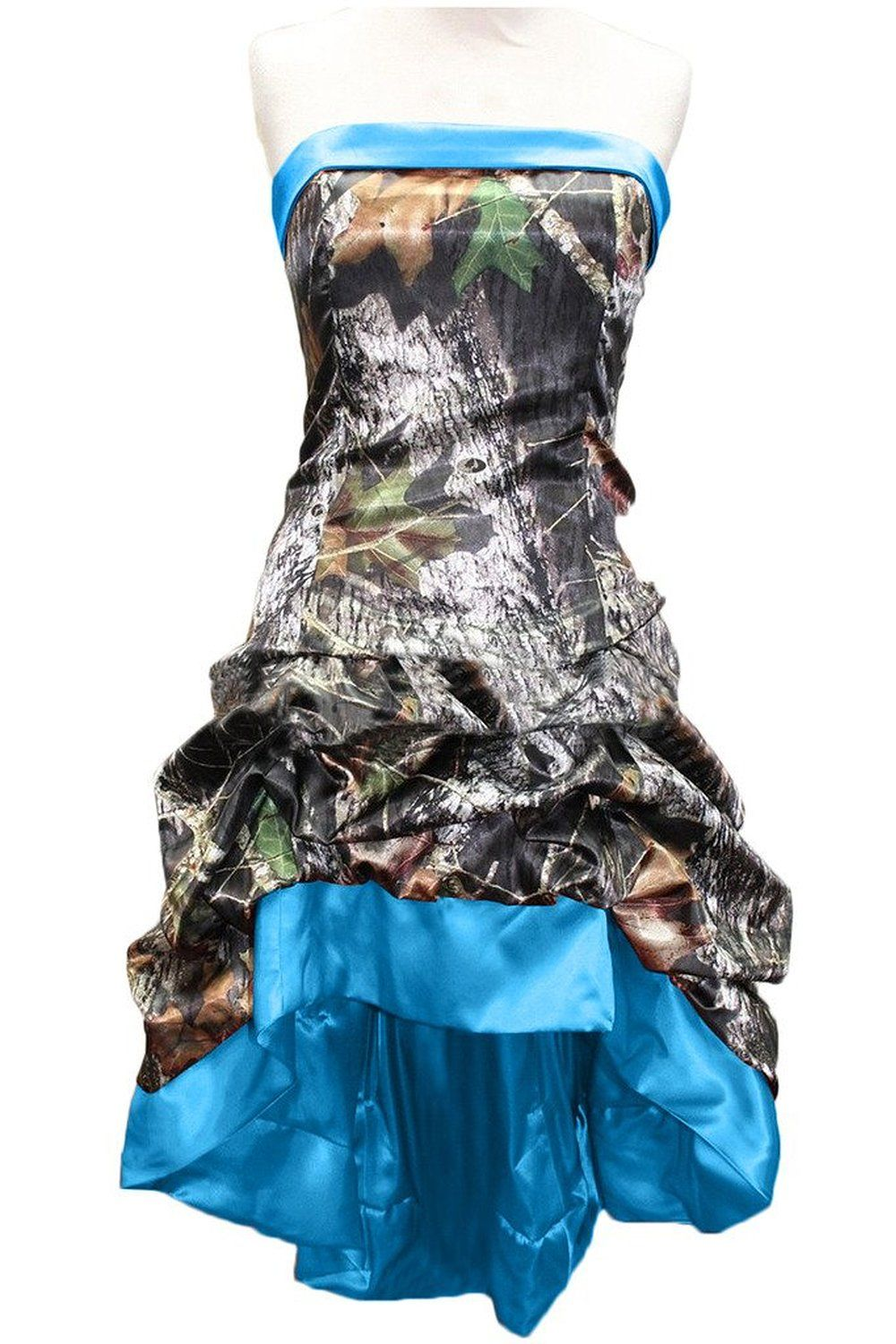 Click to buy ucuc short front long back high low camo prom dresses