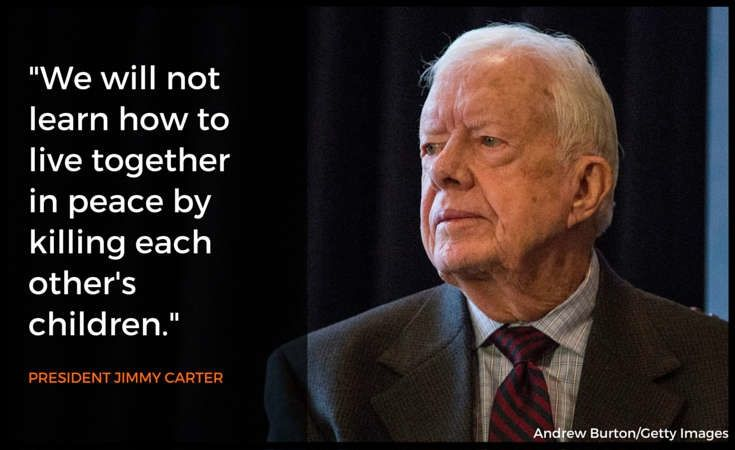 Jimmy Carter brokered the Camp David Accords, the first-ever peace treaty between Israel and one of its Arab neighbors.