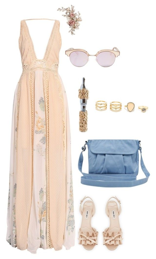 """Wedding Season"" by crystalcult ❤ liked on Polyvore featuring Free People, Miu Miu, M&Co, LULUS and Le Specs"