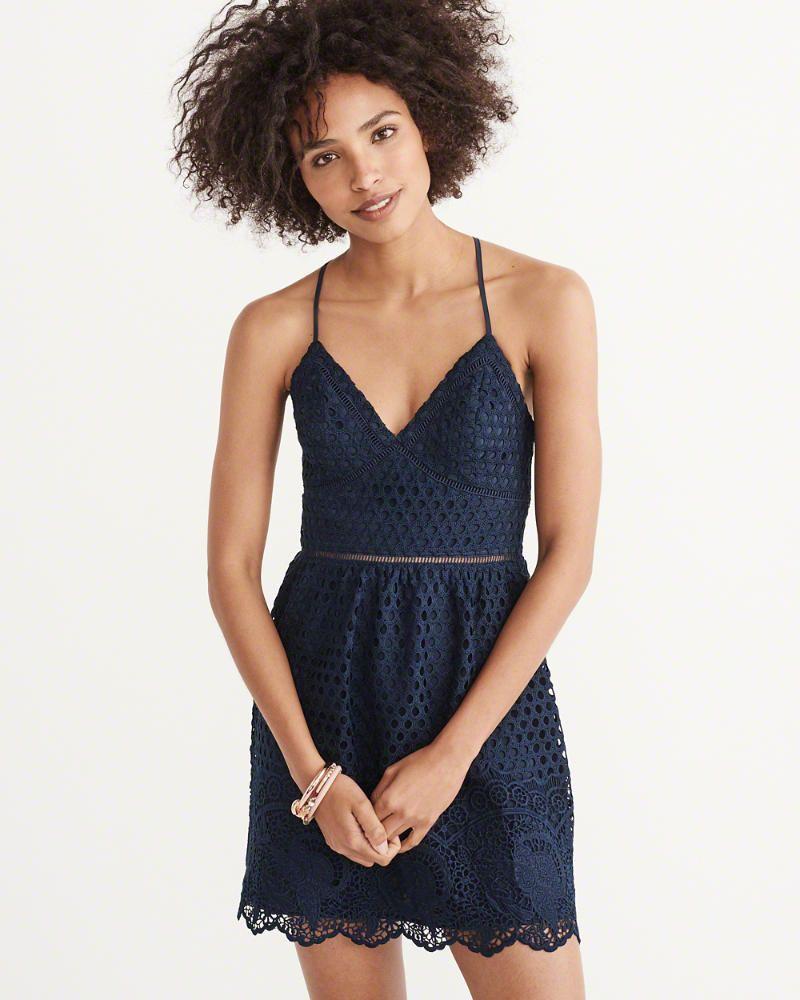 7a8aea4f61f1 A F Women s Lace Dress in Navy Blue - Size XS