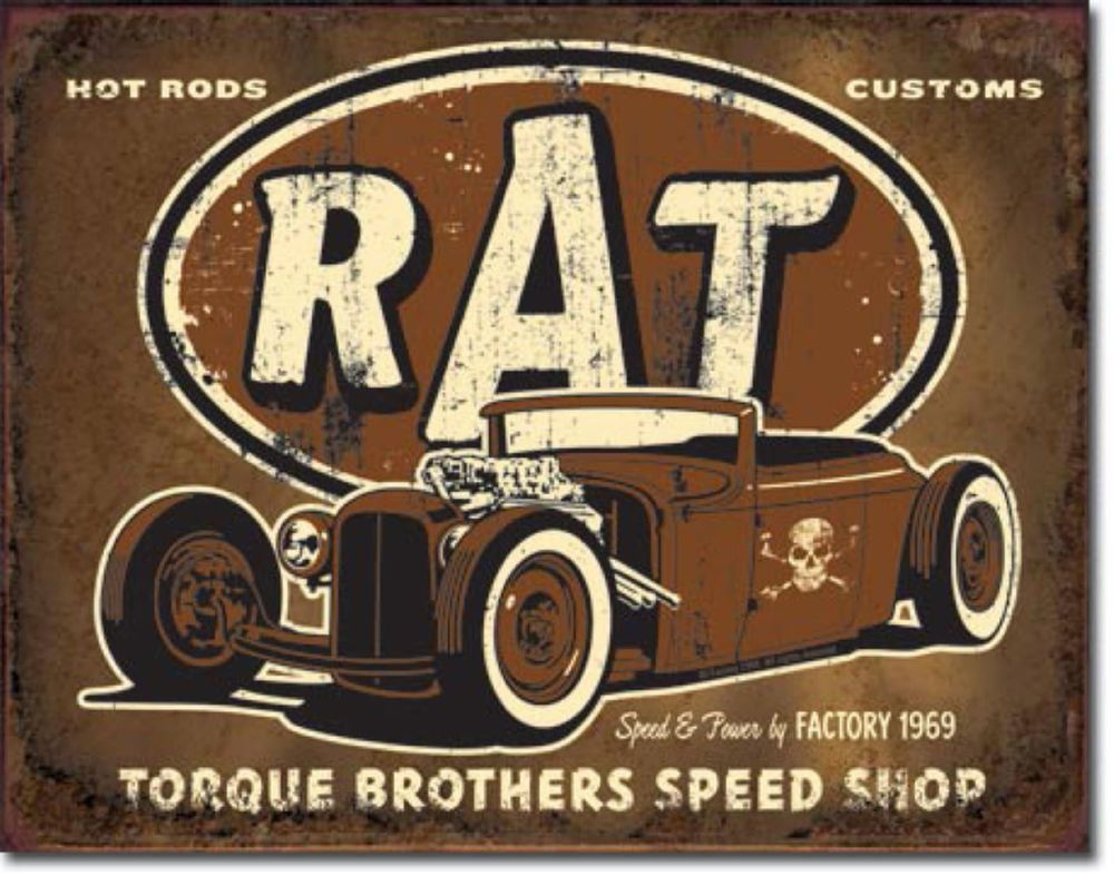 plaque publicitaire tole m tal rat rod d co americaine bar usa loft bar xl1783 garage. Black Bedroom Furniture Sets. Home Design Ideas