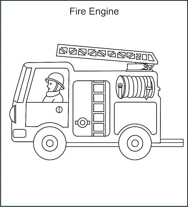 Fire Truck Coloring Page Coloringsheetfiretruckcoloringpage