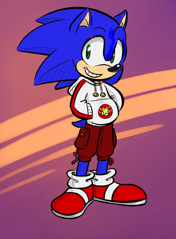 Sonic Is Wearing Clothes Sonic Sonic The Hedgehog Sonic Art