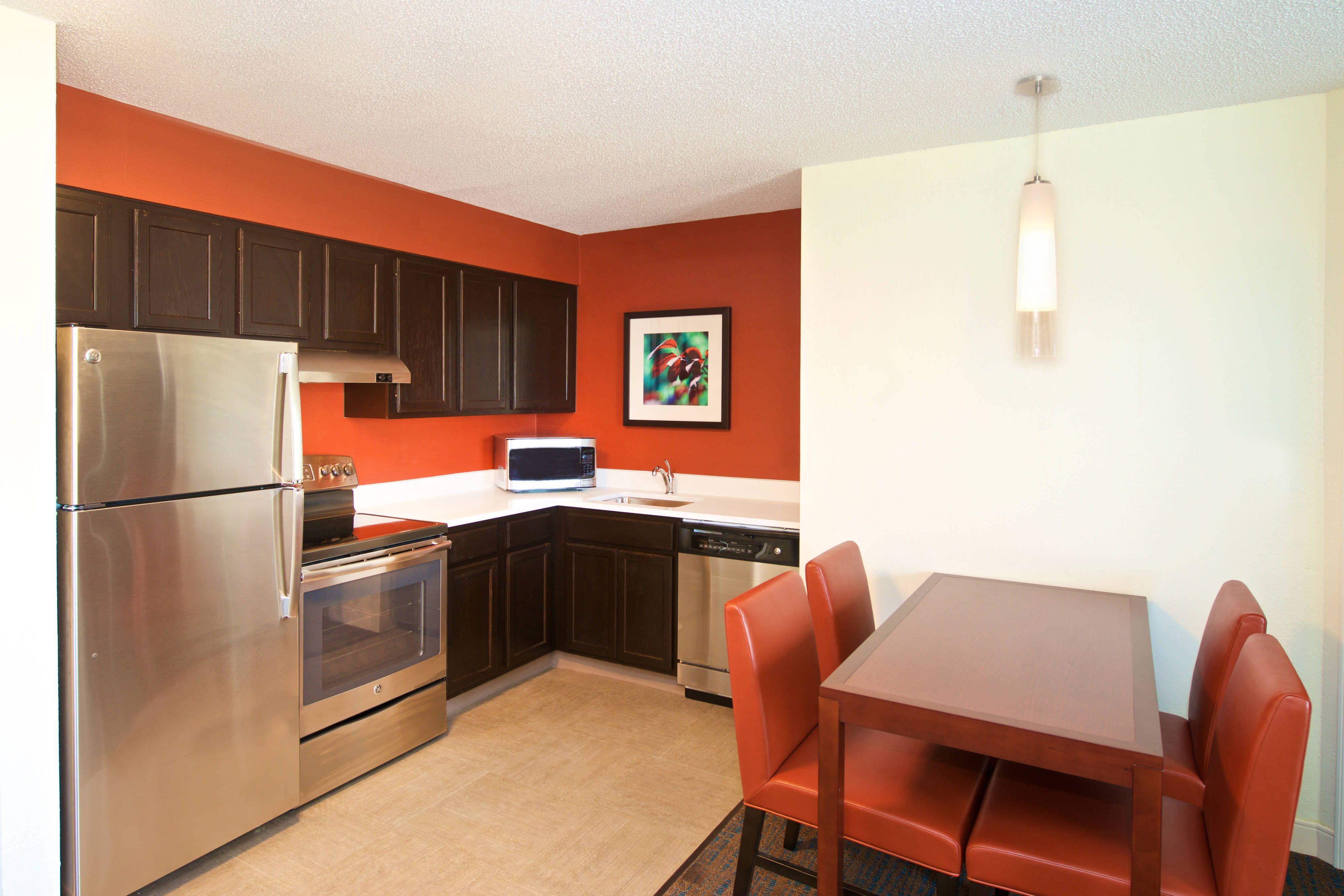 Residence Inn Evansville East TwoBedroom Suite Kitchen