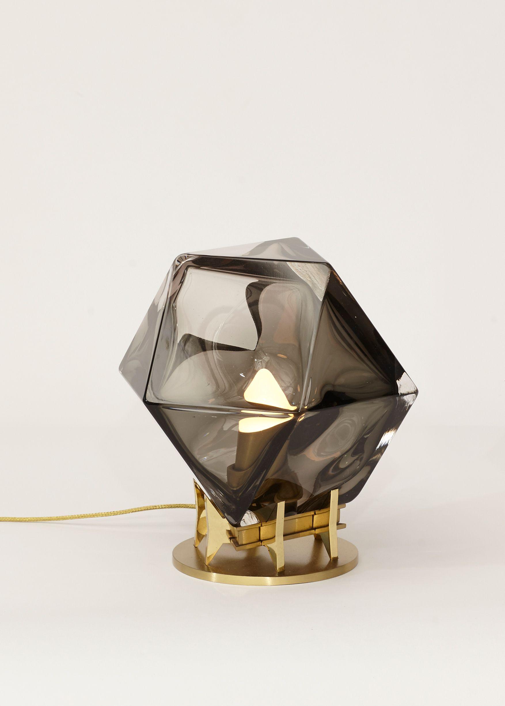 Welles Double Blown Glass Desk Lamp Glass Desk Lamps Glass Table Lamp Glass Desk