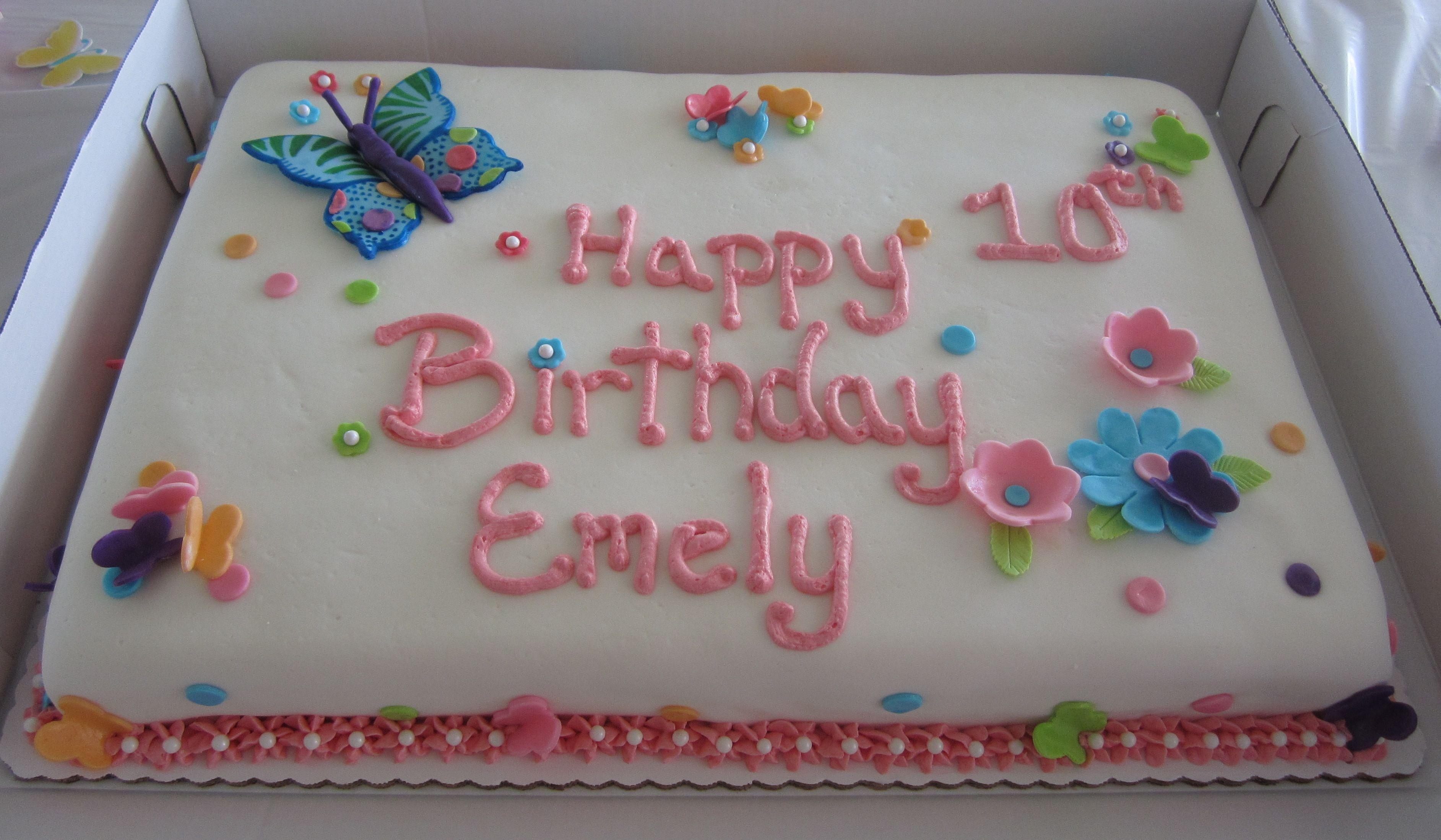 Full Sheet Cake Images