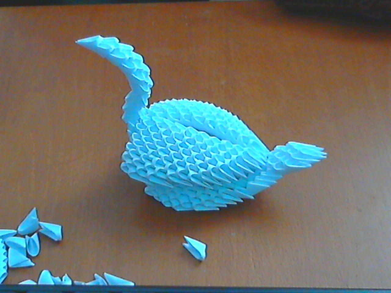 HOW TO MAKE 3D ORIGAMI SWAN (MODEL6) 3d origami swan