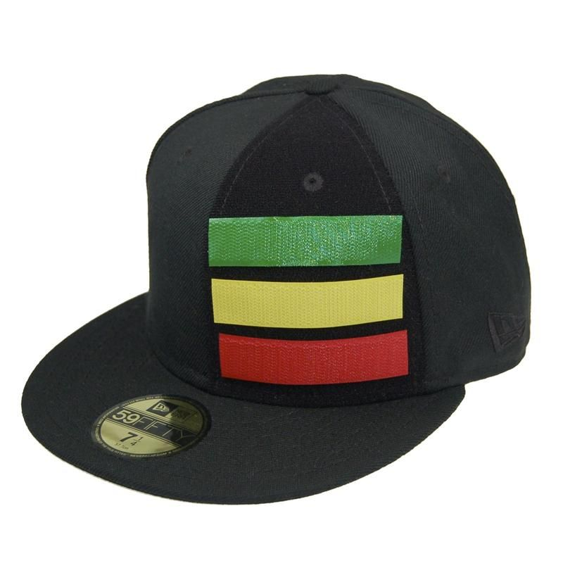 d0c5c12b5 Rasta New Era 59FIFTY Baseball Cap (Rasta on Black) | Headwear in ...