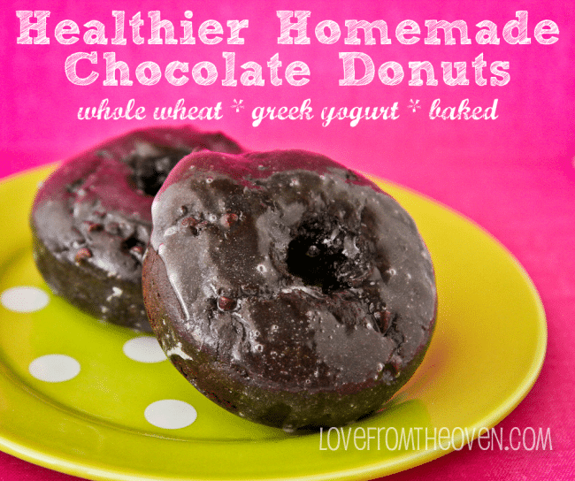 Delicious Donuts Made With Whole Wheat And Greek Yogurt • Love From The Oven