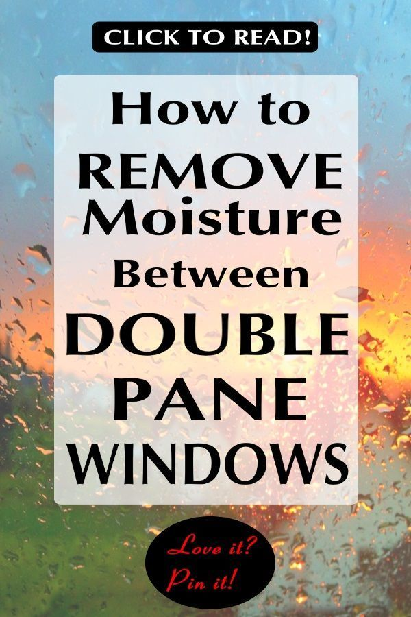 Have you ever wondered how to remove the moisture between double pane windows or if fogged windows can be repaired? When you see that condensation between the glass, the seals are broken. Some cannot be repaired & there is a chance of breaking the glass. #fixit #brokenglass #diy #diyproject