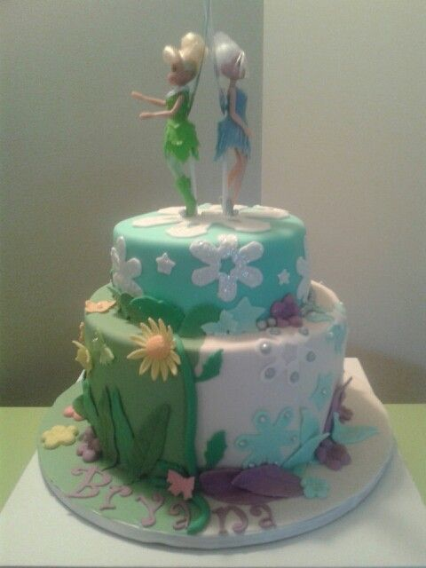 Tinkerbelle and Periwinkle cake | Tinkerbell ideas ...