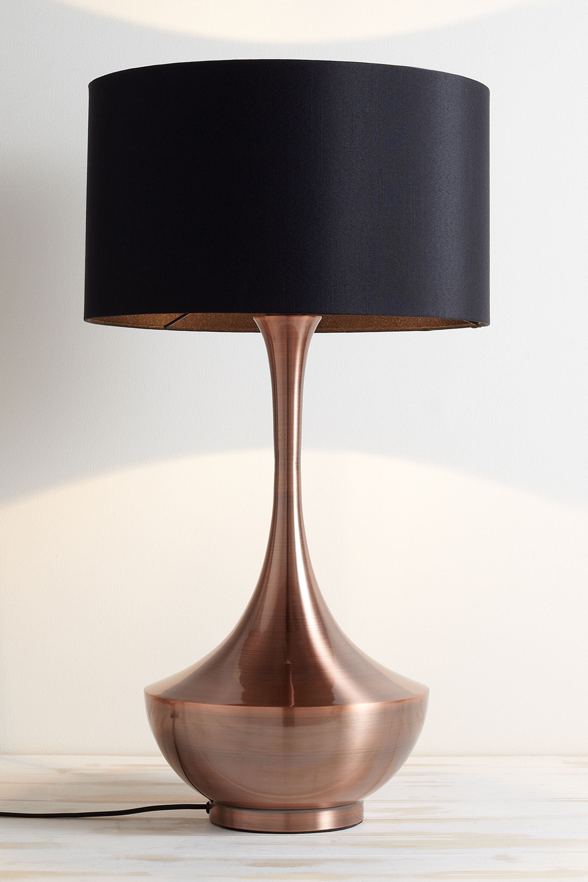 Brock Table Lamp Bhs Copper Statement Lamp With A Metallic Shine