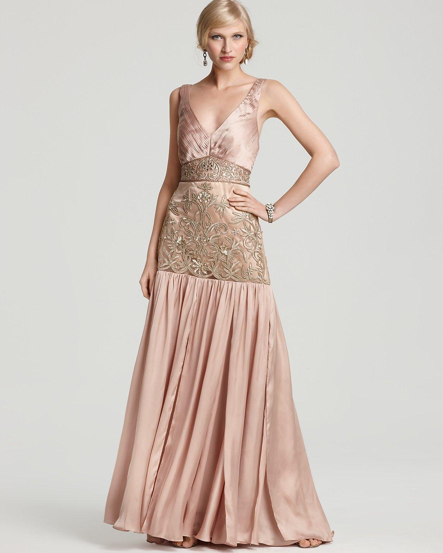 Sue Wong V-Neck Embellished Gown | luxury decollage | Pinterest ...