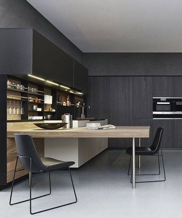 Black And Natural Kitchen