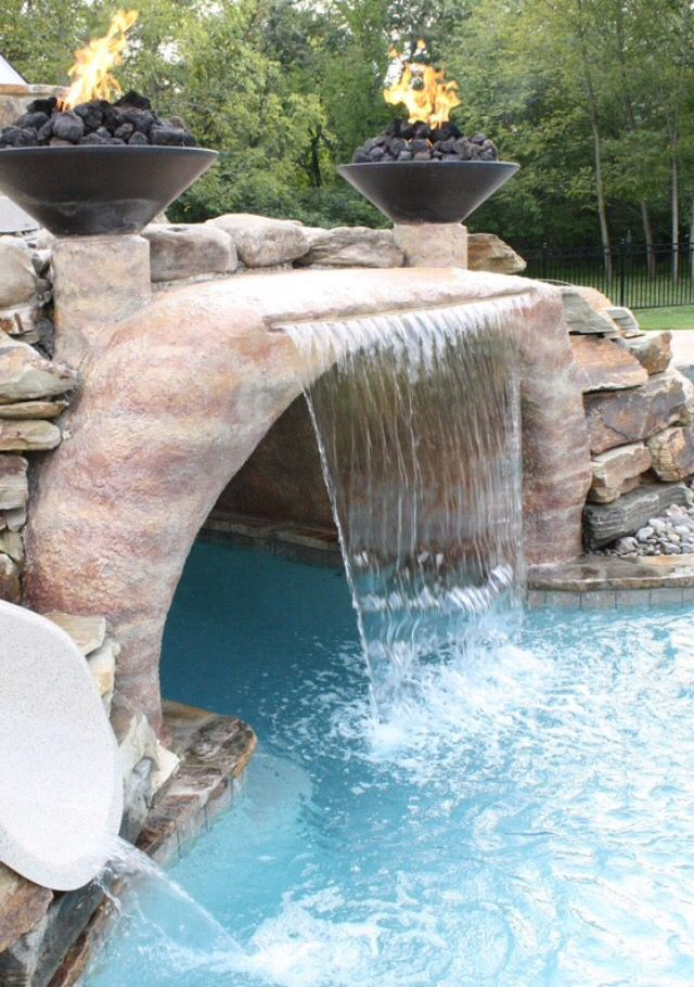 Pin by Madison Dietz on Outdoor Pool Ideas in 2018 Pool waterfall