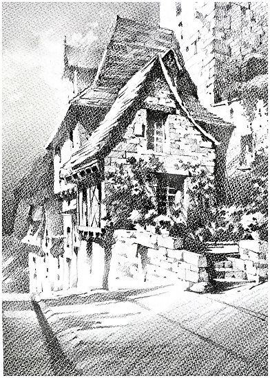 French Cottage by Thomas W. Schaller Pencil ~ 20 inches x ...