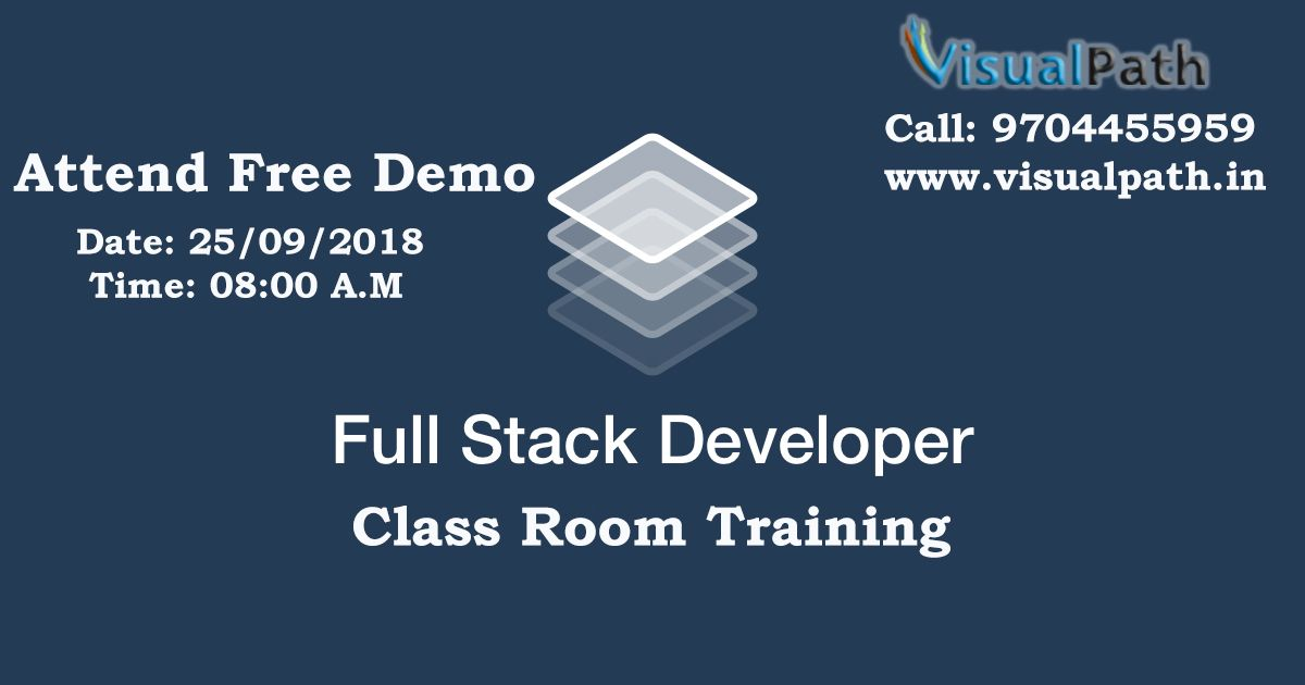 Visualpath Scheduling FullStack ClassRoom Training in