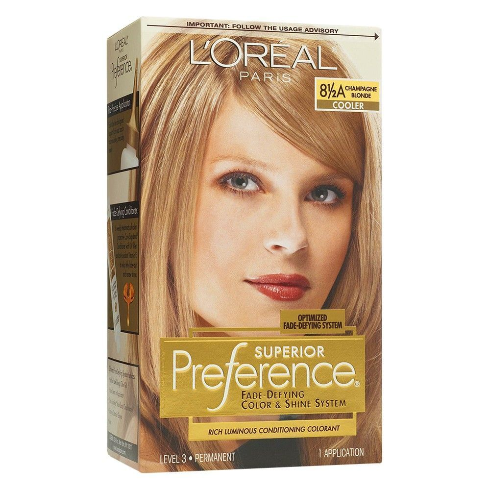 L'Oréal Paris Superior Preference Fade-Defying Color + Shine System - 8.5A Cham... -  L'Oréal Paris Superior Preference Fade-Defying Color + Shine System – 8.5A Champagne Blonde, Champagne Blonde 8.5a Source by target  -