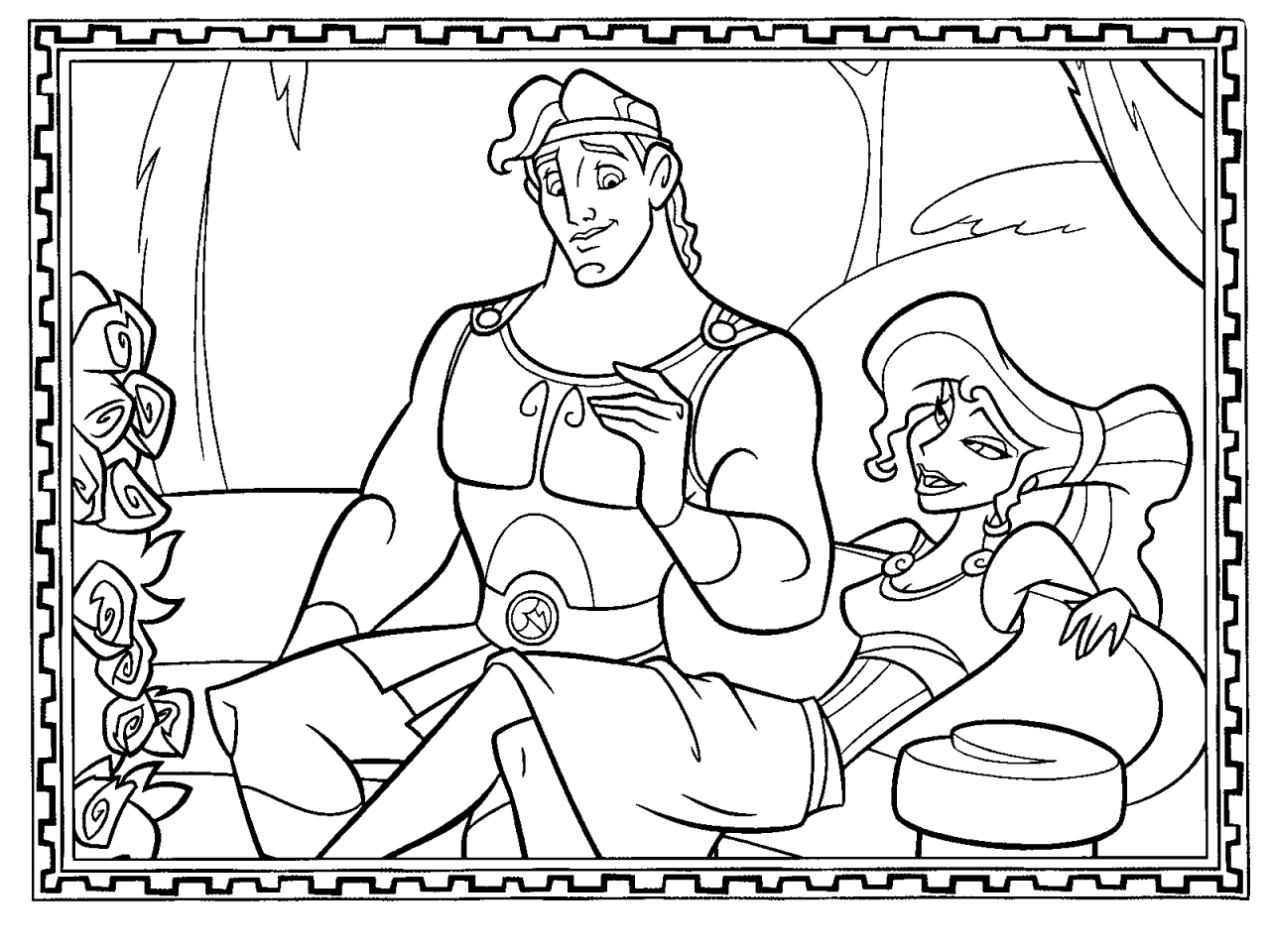 coloriage hercule  Disney coloring pages, Coloring pages