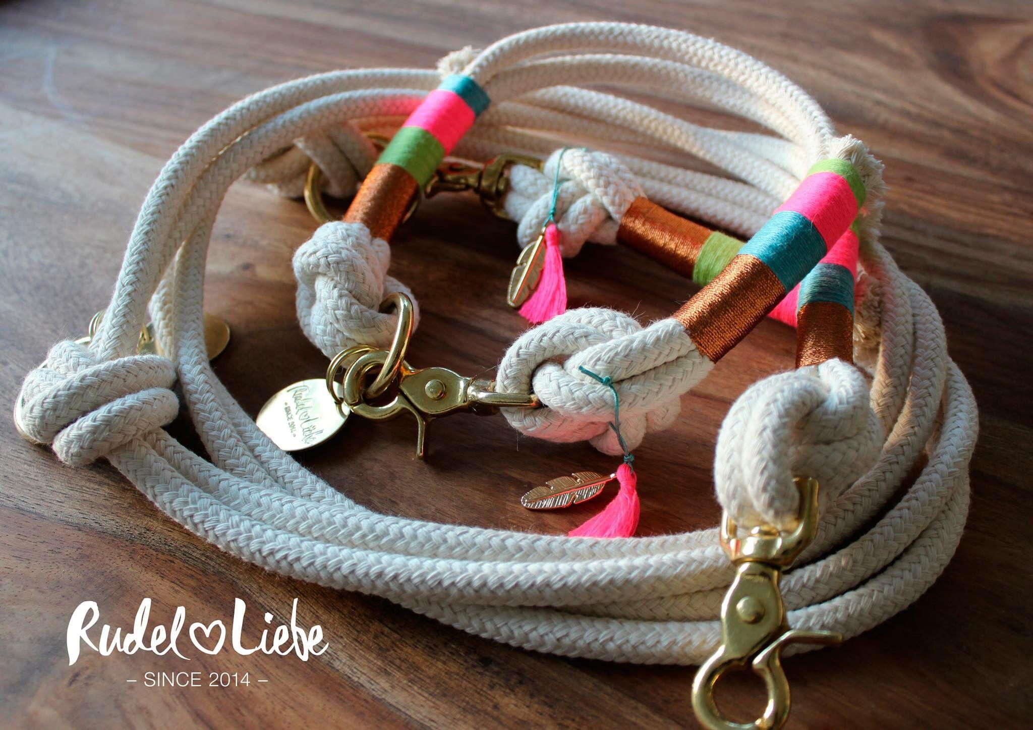 rudel liebe hundehalsband und leine aus tauwerk hundekette hund halsband. Black Bedroom Furniture Sets. Home Design Ideas