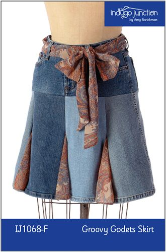 Free sewing pattern & tutorial for godet skirt by Indigo Junction ...