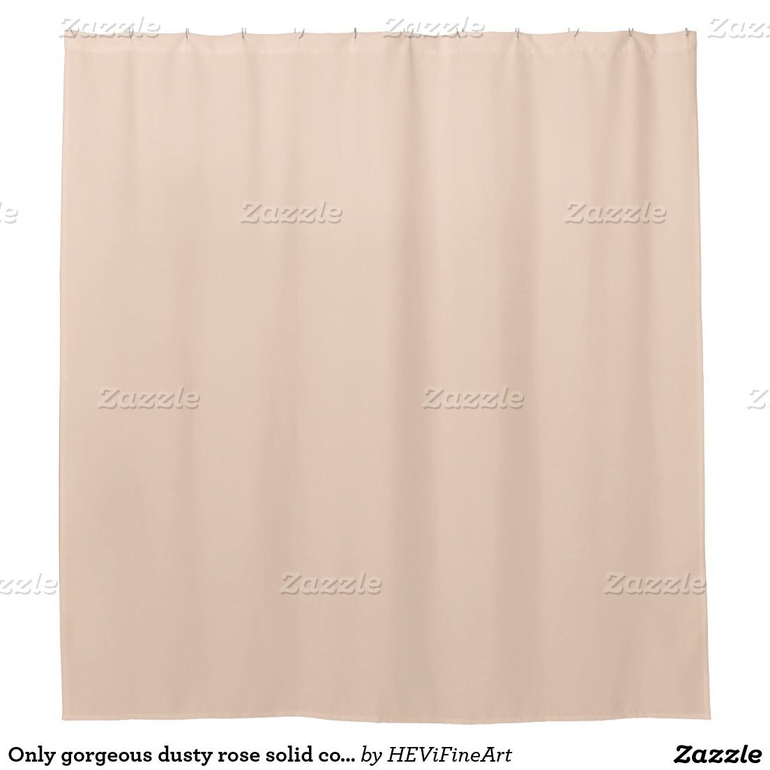Only Gorgeous Dusty Rose Solid Color OSCB07 Shower Curtain