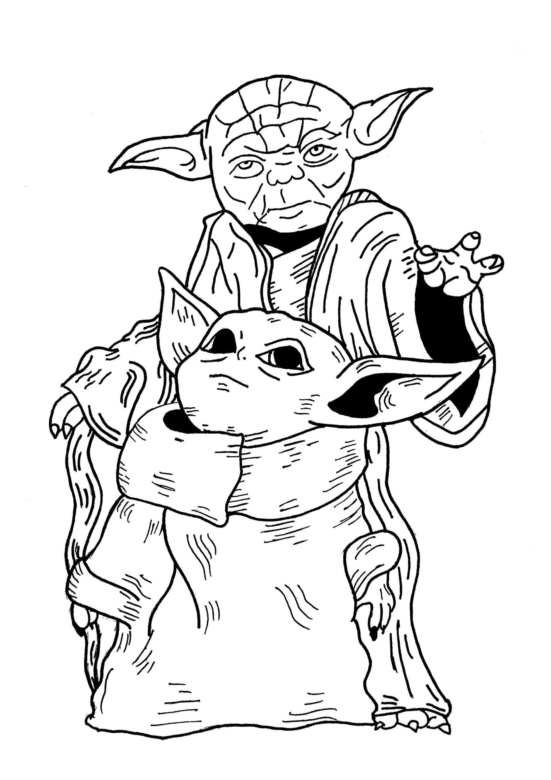 Star Wars Coloring Pages Master Yoda And Baby Yoda Star Wars Coloring Pages Small Yet Star Wars Coloring Book Star Wars Coloring Sheet Yoda Drawing