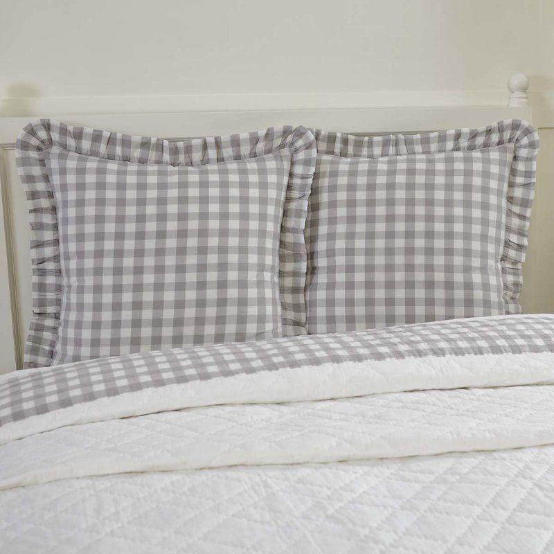 Caulder Buffalo 100 Cotton Plaid Sham Pillow Euro Shams Farmhouse Bedding Buffalo Check Fabric