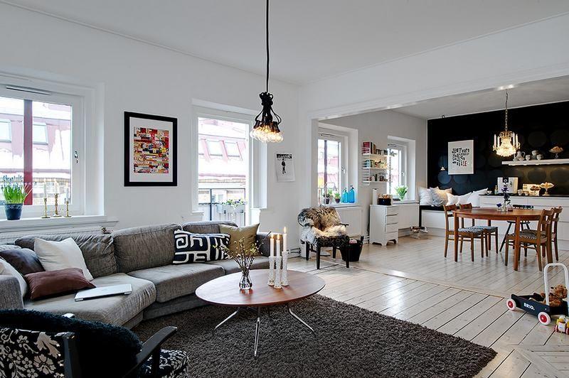 Hangulatos, 77nm-es lakás nyitott nappali, konyha, étkező zónákkal ...